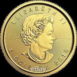 0.5 oz 5 x 1/10 oz 2019 Gold Maple Leaf Coin RCM. 9999 Au