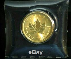 1-2017 Canadian 1/20 Oz. 9999 Gold Coin BU in Mint Sleeve