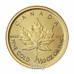 1/20oz Canadian Gold Maple Leaf Coin. 9999 Fine1/20 oz year 2019