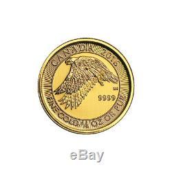 1/4 oz 2016 Canadian Snow Falcon Gold Coin