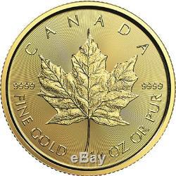 1/4 oz 2019 Gold Maple Leaf Coin RCM. 9999 Au Royal Canadian Mint