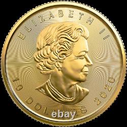 1/4 oz Gold Maple Leaf Coin 2020 Royal Canadian Mint
