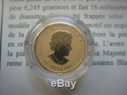 1/5 oz (6.25 g) Pure Gold Maple Leaf Coin Rare only 3000 minted