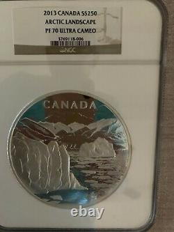 1 Kilo Silver Coin-canada's Artic Landscape- 2013rare Find-ncg Pf 70 Ultra Cameo