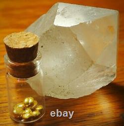 1 gram Gold 24K. 9999 RCM Refined Pure Gold Grain Shot Bullion In Vial