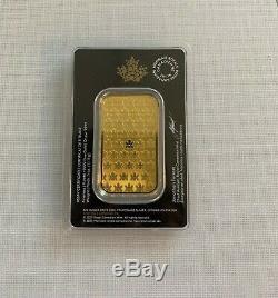 1 oz 2020 Gold Bar New Design RCM. 9999 Au Royal Canadian Mint