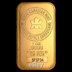 1 oz Gold Bar Royal Canadian Mint (Old Style, In Assay) SKU #72805