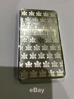 10 Oz Royal Canadian Mint Silver Bar. 9999 Fine Silver Bullion