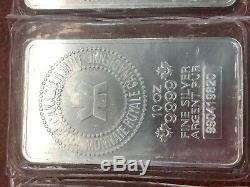 10 Oz Silver Bar Rcm Royal Canadian Mint. 9999 Fine Argent Pure Lingot