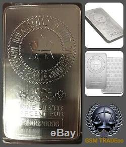 10 Oz Silver (rcm) Royal Canadian Mint Silver Bullion Bar Original Mint Sealed