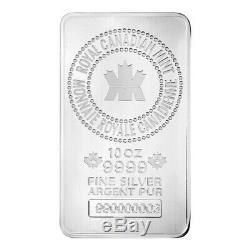 10 oz Royal Canadian Mint (RCM). 9999 Fine Silver Bar (Sealed)