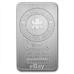 10 oz Royal Canadian Mint (RCM). 9999 Fine Silver Bar Sealed