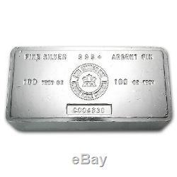 100 oz Silver Bar RCM (Vintage) SKU #22218