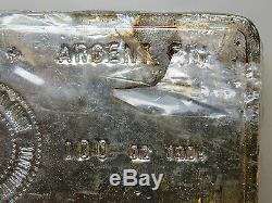 100 troy oz SILVER BAR ROYAL CANADIAN MINT RCM 999+ FINE SILVER VINTAGE BAR