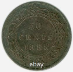 1888 Newfoundland 50¢ Fifty Cent Coin Certified and Graded VF-30 by ICCS