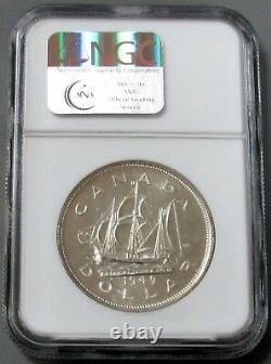 1949 Silver Canada $1 Tall Ship Ngc Specimen Proof 63