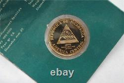 1975 Nicaragua Gold 1000 Cordobas US Bicentenial Central America BU
