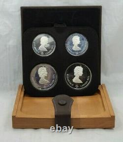 1976 Canada Montreal Olympics Proof Silver 4-Coin Set Series I (T1625)