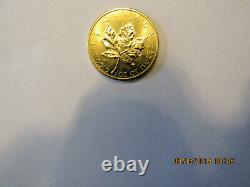 1980 One Oz. Of. 999 Fine, Pure Gold Canadian Maple Leaf In Beautiful Condition