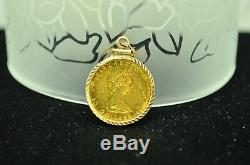 1985 Canada $10 Gold Maple Leaf In A 14k Yellow Gold Bezel Pendant