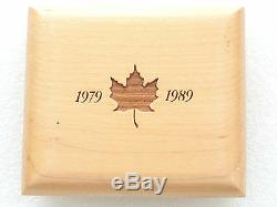 1989 Canada Maple Leaf 10th Anniv $50 Fifty Dollar Gold Proof 1oz Coin Box Coa