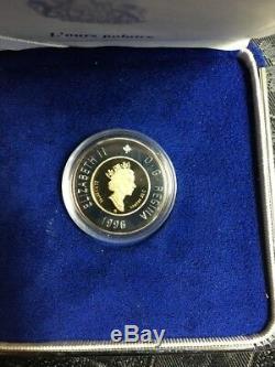 1996 CANADA $2 COIN 2 DOLLAR Bi Metallic GOLD PROOF POLAR BEAR