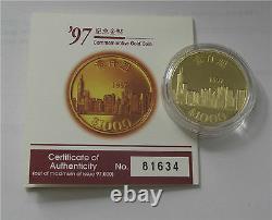 1997 Hong Kong 1000 Dollars Gold Coin Proof 1/2 Oz Return of Hong Kong to China