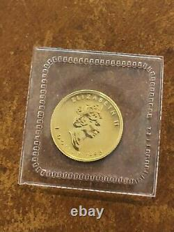 1998 RCM Sealed Canada 1/20 oz. 9999 Gold Maple Leaf Mint Rare