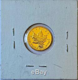 1999 Canada 1/10 oz. 9999 Fine Gold Maple Leaf 5 Dollars