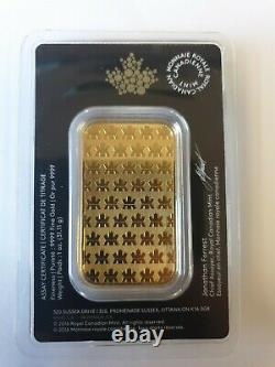 1oz Gold Bar Royal Canadian Mint