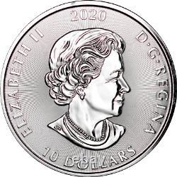 2 oz Silver Canada 2020 Creatures of the North The Kraken. 9999 Fine BU $10 Coin