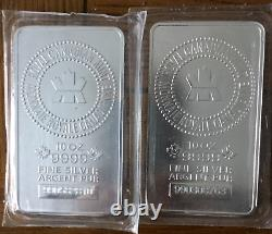 20 Oz RCM Registered Silver. 9999 bars (2 x 10 oz)