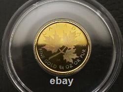 2001 1/4 oz Gold Canadian Maple Leaf HOLOGRAM Coin Low Mintage SKU-X1091