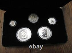 2004 Canada Silver Maple Leaf Privy Mark Set (Reverse Proof Finish)