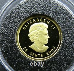 2005 1/25 oz Fifty Cent Gold Coin Voyageur Proof 9999 Fine Au 50¢ RCM Canada