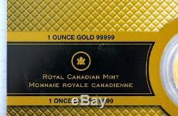 2008 $200 Canada 1 oz 99999 Fine Gold Maple Leaf Coin BU in Assay Card