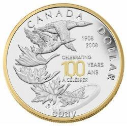2008 Royal Canadian Mint 100th Ann. Canada Special Edition Silver Dollar -STJH13