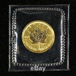 2009 $1 Canada 1/20 oz. 9999 Fine Gold Maple Leaf Coin Sealed OPG Lot#Z855