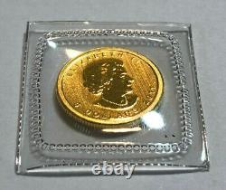 2011 Canada 1/10th oz $5 Gold Maple Leaf Coin. 9999 Fine Gold, Sealed BU