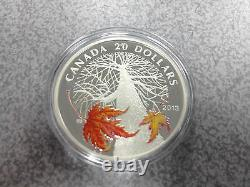 2013 Royal Canadian Mint $20 Fine Silver Coin Canadian Maple Canopy Autumn