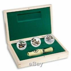 2013 Royal Canadian Mint 3 Coin Canada Duck Coin Set With Duck Caller