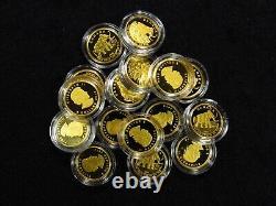 2014 1/10 Oz Canada Gold ELEPHANT. 9999 FINE IN CAP (1 COIN)
