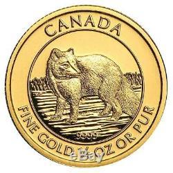 2014 $10 Gold Canadian Arctic Fox. 9999 1/4 oz Brilliant Uncirculated