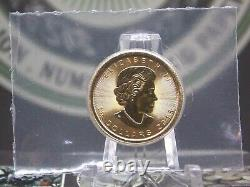 2015 $10 1/4 oz Gold Canadian Maple Leaf SEALED East Coast Coin & Collectables