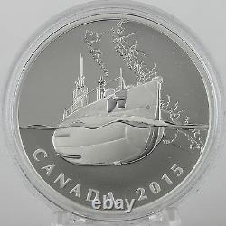 2015 $20 Canadian Home Front Canada's First Submarines WW1, 1 oz Pure Silver