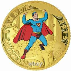 2015 Canada 14 Karat Gold $100 Superman #4 Comic Coin Royal Canadian Mint