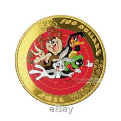 2015 Looney Tunes Bugs Bunny and Friends Pocket Watch and 14K Gold Coin