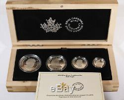 2015 Royal Canada Mint Silver Fractional Set Bald Eagle 4 Coins Total Coa Box
