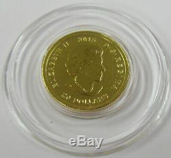 2015 Royal Canadian Mint 1/10 oz. 99999 Fine Gold Howling Wolf