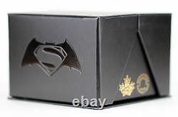 2016 $20 Batman vs Superman Dawn of Justice Trinity 1 oz Pure Silver Color PR